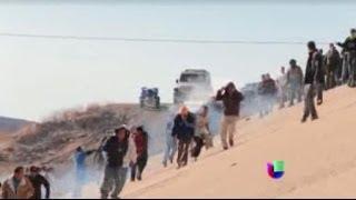 Enfrentamiento De Pel�cula En La Frontera Entre M�xico Y Eeuu -- Noticiero Univisi�n