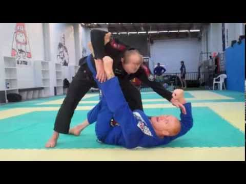 De la riva jiu jitsu Australia X Guard to Foot Lock Image 1