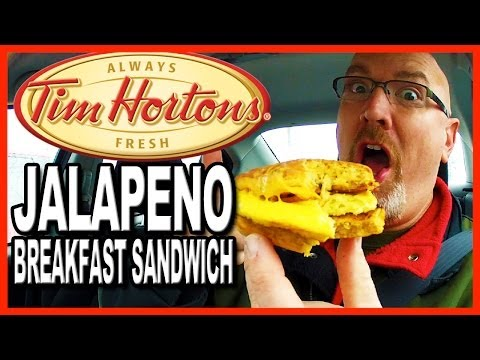 Tim Hortons Jalapeño Breakfast Sandwich with Bacon and Cheese Plus Drive Through Test