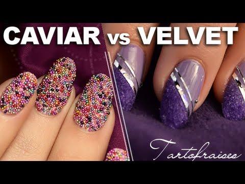 Nail art : tendance Velvet & Caviar manucure