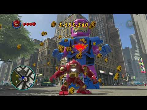 LEGO Marvel Super Heroes (PS4) - All Iron Man Characters + Free Roam Gameplay