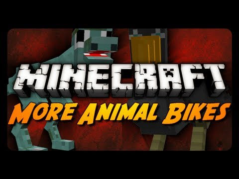 Minecraft: Animal Bikes Mod - Part 3! (7 New Bikes!)