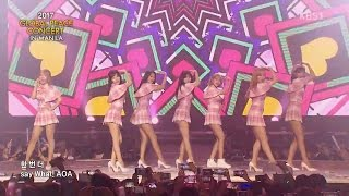 170329 AOA Heart Attack + Excuse Me @ KBS OneK Global Peace Concert Manila