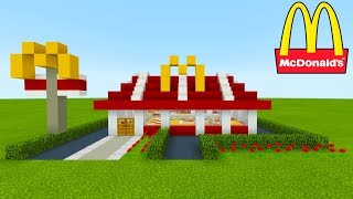 "Minecraft Tutorial: How To Make A McDonalds (Restaurant) ""2019 City Tutorial"""