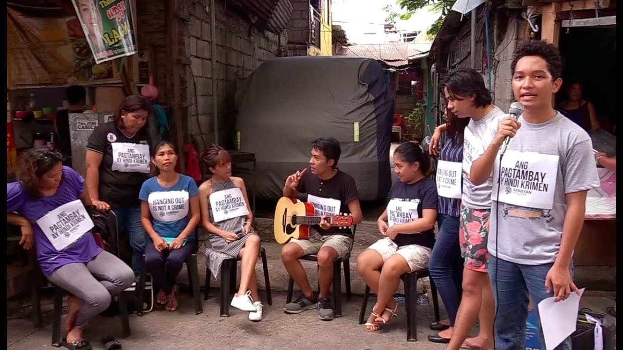 Youth group protests PNP drive against 'tambays'