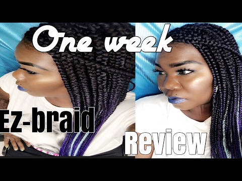 One week review featuring ez braid itch free hair
