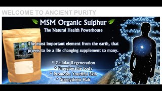 MSM Organic Sulphur (Results / Uses) Patrick McGean of Sulphur Study