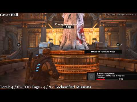 Gears of War Judgment - COG Tags & Declassified Missions Location Collectibles Guide - Chapter 1