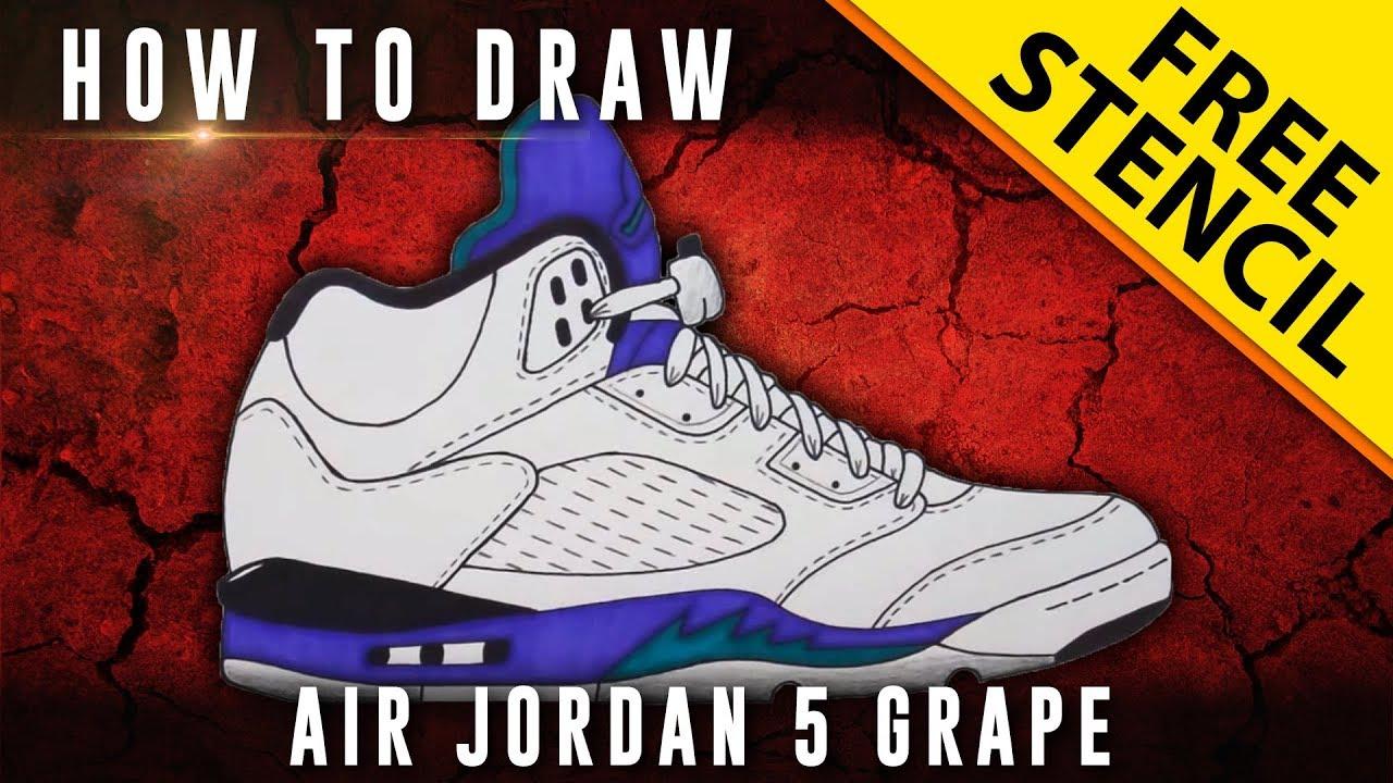Jordan Future Drawings How to Draw Air Jordan 5