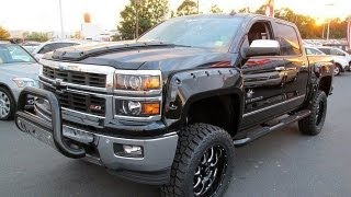 2014 Chevy Silverado 1500 LTZ Black Widow Lifted Truck