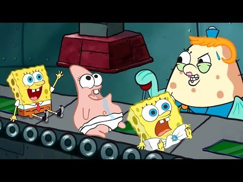 Spongebob's Game Frenzy - Funny Spongebob Scrub Scrub Scrub - Nicklodeon Jr Kids Games Video