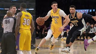 Lonzo Ball Chase Down! Kuzma Sky Hook! Lakers Revenge vs Nuggets! 2017-18 Season