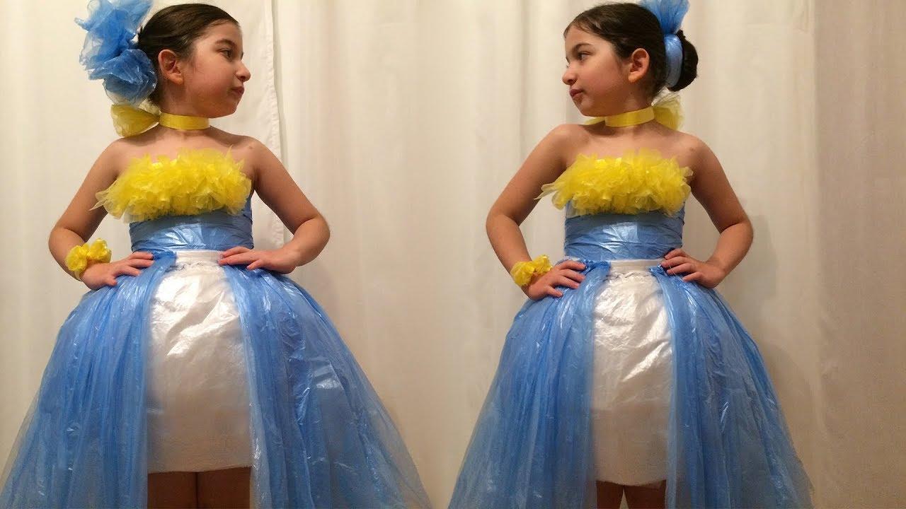 Как сделать платья с мусорных пакетов
