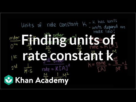 Finding units of rate constant k | Knetics | Chemistry | Khan Academy