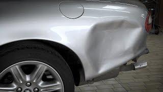 Instandsetzung der Seitenwand an einem Jaguar mit dem Miracle-System