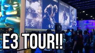 E3 TOUR - SHOW FLOOR AND BOOTHS!! INSIDE LOOK AT E3!!