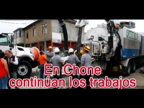 En Chone continúan los trabajos