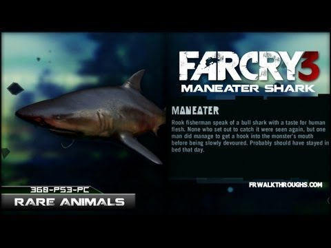 Far Cry 3 Hunting Rare Animals ManEater Shark