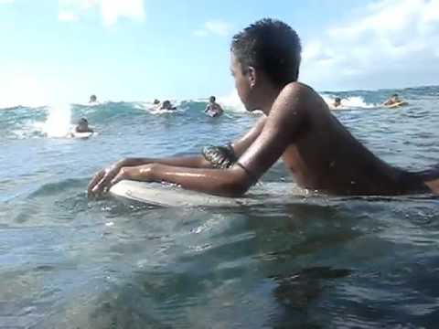 "[33] Two cute Hawaiian Filipino Samoan boys bodyboarding Waikiki ""Walls"" ""Best"" Friend"" Toy Box HD"