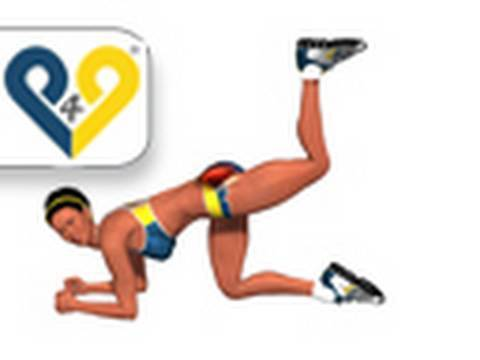Exercicios para mulheres :  Extensão quadril, joelho dobrado