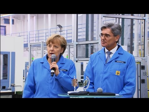 German Chancellor Angela Merkel visits the