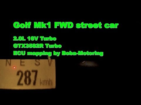 VW Golf Mk1 FWD GTX3582R 2,2bar Boost Street Tests 287kmh