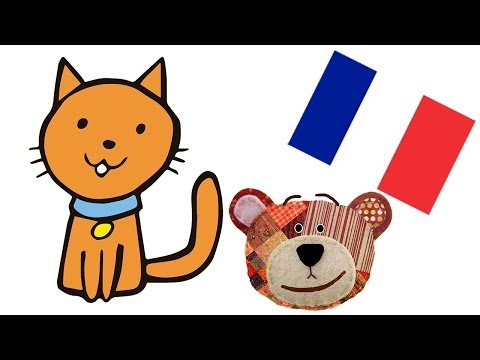 Pets for kids in french - Sound and names