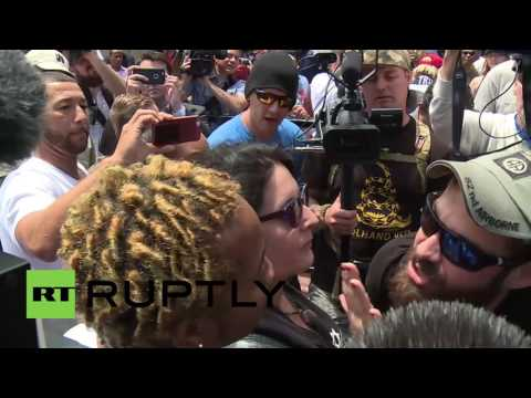 USA: Arrests made as anti-Trump protesters clash with police in San Diego