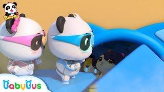 Rescue Baby Kitten From the Earthquake   Super Panda Rescue Team   Panda Cartoon   BabyBus