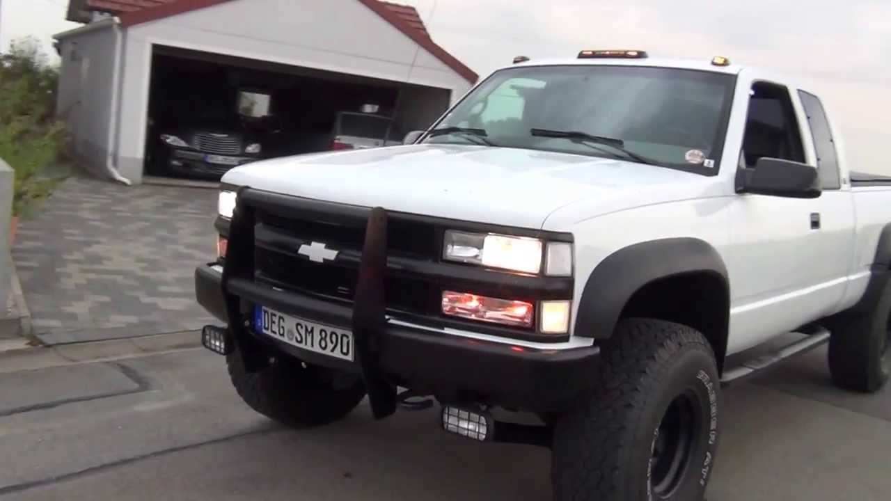 "4"" Liftted 1995 Chevy Silverado K1500 4x4 - YouTube"
