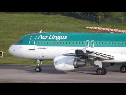 {HD} Aer Lingus Airbus A320 Taxiing And Takeoff Cork to Malaga Costa Del Sol (ORK-AGP)