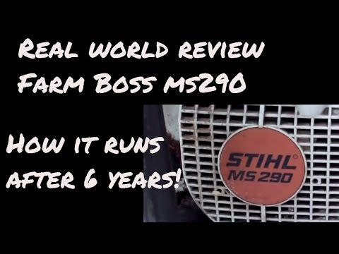 Stihl Chainsaw review MS290 after six years
