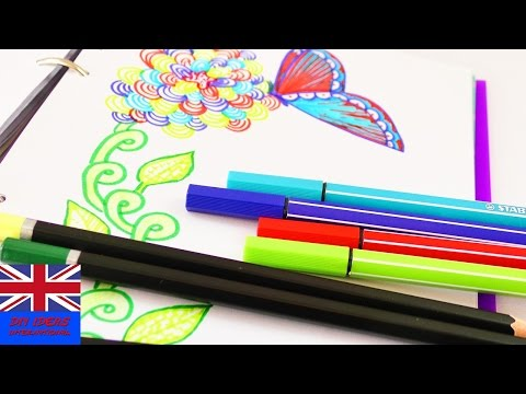 DRAWING PICTURES FOR SPRING! A wonderful flower drawing in our Filofax!