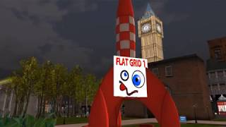 Flat Grid1 in flight - Second Life London City