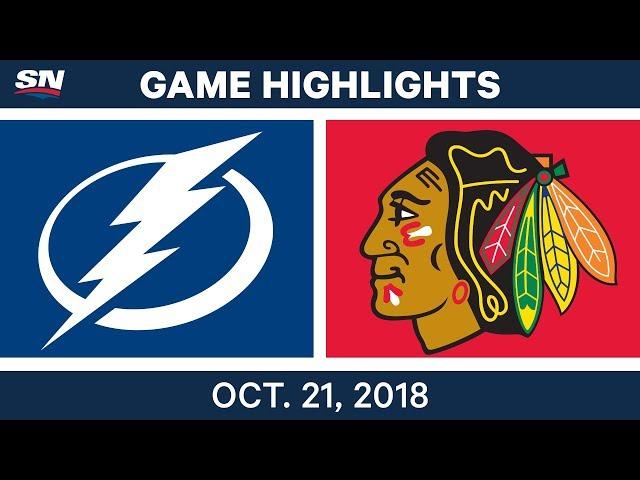 NHL Highlights  Lightning vs. Blackhawks - Oct. 21, 2018