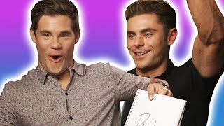 Zac Efron And Adam DeVine Play The BuzzFeed BFF Game