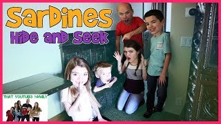 Fun Family SARDiNES In Huge Cabin Mansion In The Woods / That YouTub3 Family
