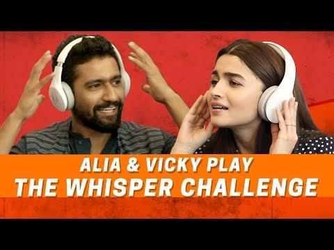 Alia Bhatt And Vicky Kaushal Play The Whisper Challenge   Raazi   MissMalini thumbnail