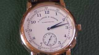 A  Lange & Sohne 1815 Manual Wind