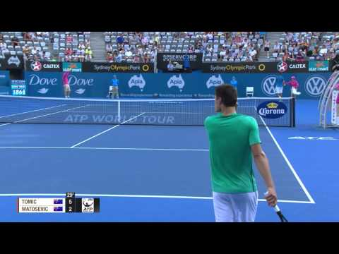 Bernard Tomic v Marinko Matosevic - Full Match Men's Singles Rd 1: Apia International Sydney 2013