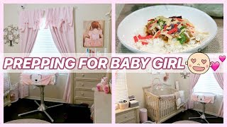 PREPPING BABY GIRL'S NURSERY! | NESTING & ORGANIZING!  from Madison Miller