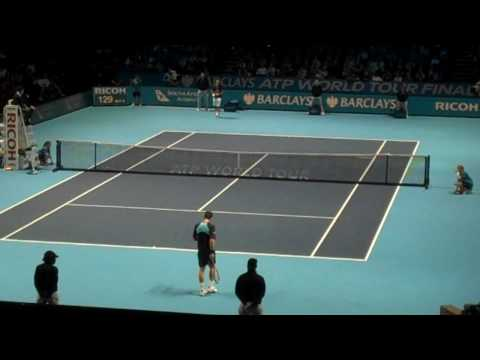 Roger Federer def Andy Murray in the ATP Tour Finals London: Last 8 minutes of match Video