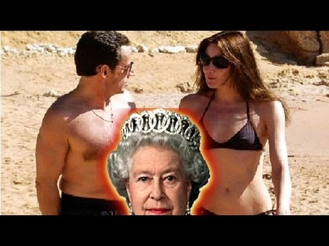 Sarkozy and wife kept the Queen waiting