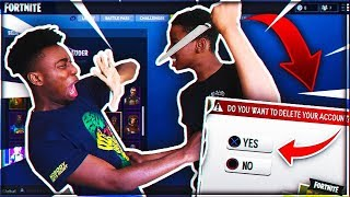 I ALMOST GOT STABBED DELETING ANGRY KID'S FORTNITE ACCOUNT! Fortnite Prank *GONE WRONG*