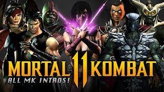 MORTAL KOMBAT 11 - ALL Easter Eggs & MK Character References INTROS! (Mileena, Fujin, Smoke & MORE!)