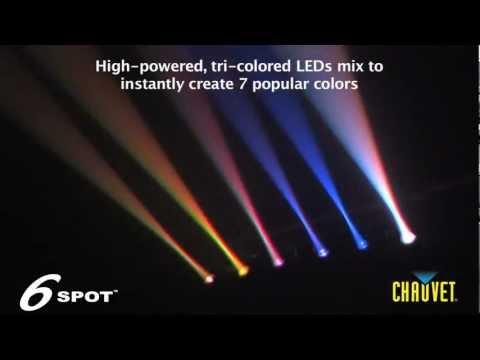 Chauvet 6SPOT portable DJ tri-color LED lights