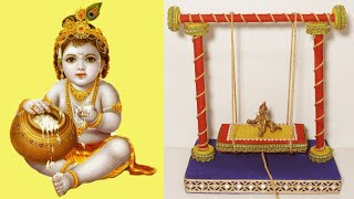 How to make Jhula for bal gopal with news paper || Krishna Swing || Best out of waste || DIY ideas