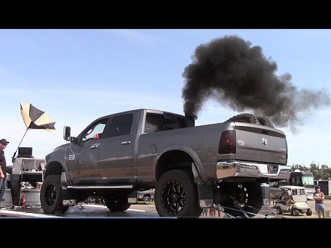 600HP Lifted 6.7L Cummins Dyno Pulls