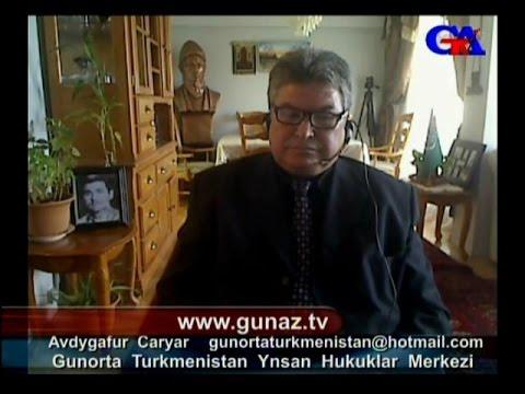 GünazTv Oct.26.2015 Gunorta Turkmenistan Ynsan Hukuklar Merkezi Avdygafur Caryar