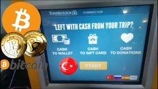 Türkiyenin ilk Bitcoin ATM'si açıldı - Turkey's First BTC ATM